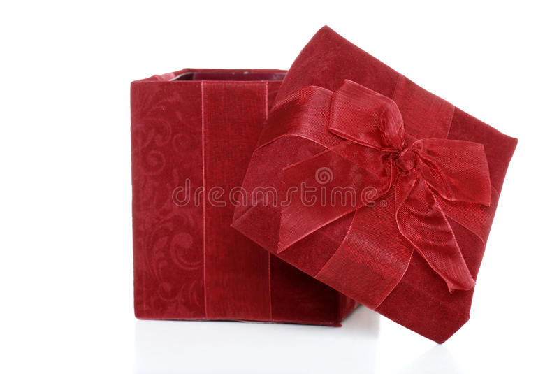 Regalo de la Navidad abierto foto de archivo libre de regalías