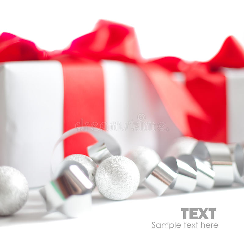 Regalo de la Navidad aislado fotos de archivo