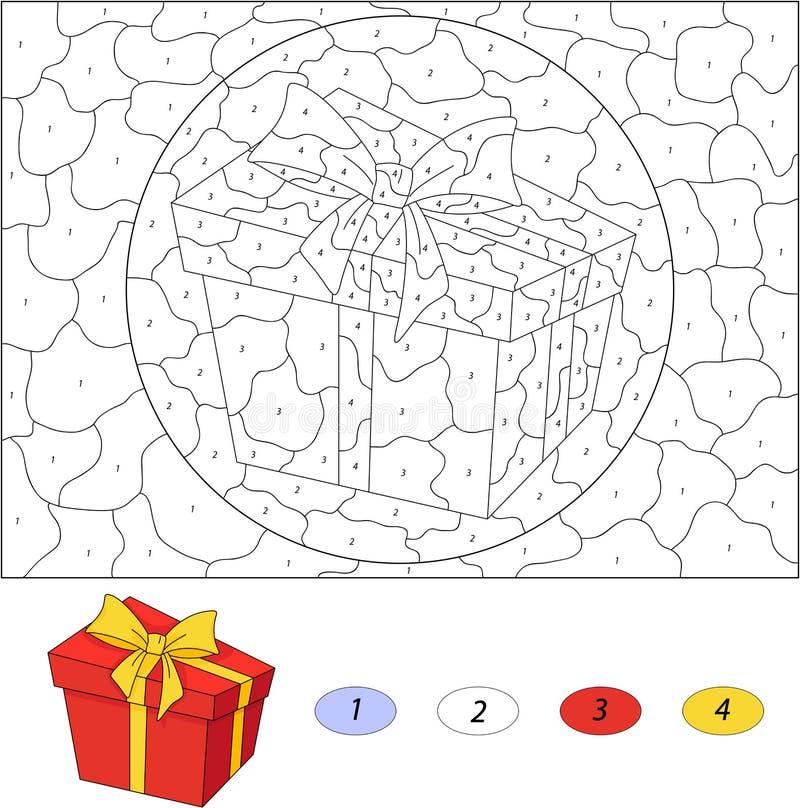 Lujoso Color Por Número Hojas De Navidad Ilustración - Páginas Para ...