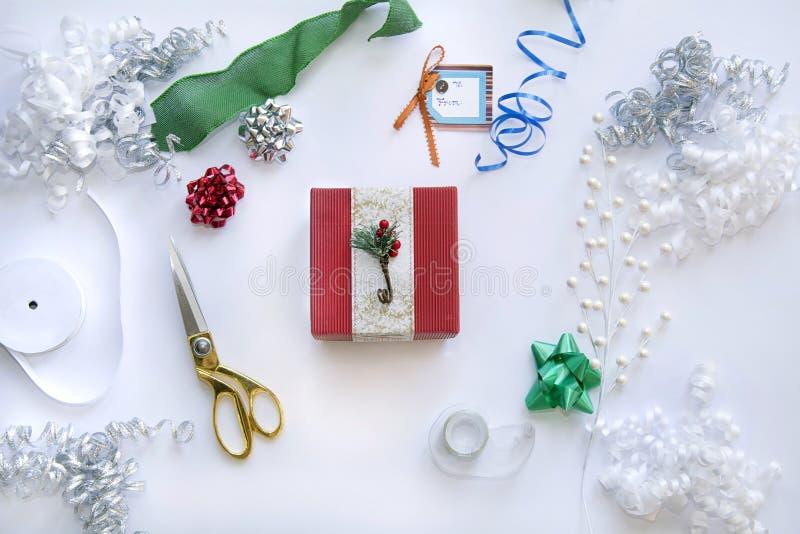 Regalo de la Navidad para la Navidad con los embalajes imagen de archivo libre de regalías