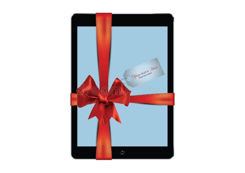 Regalo de la tableta de Digitaces imágenes de archivo libres de regalías
