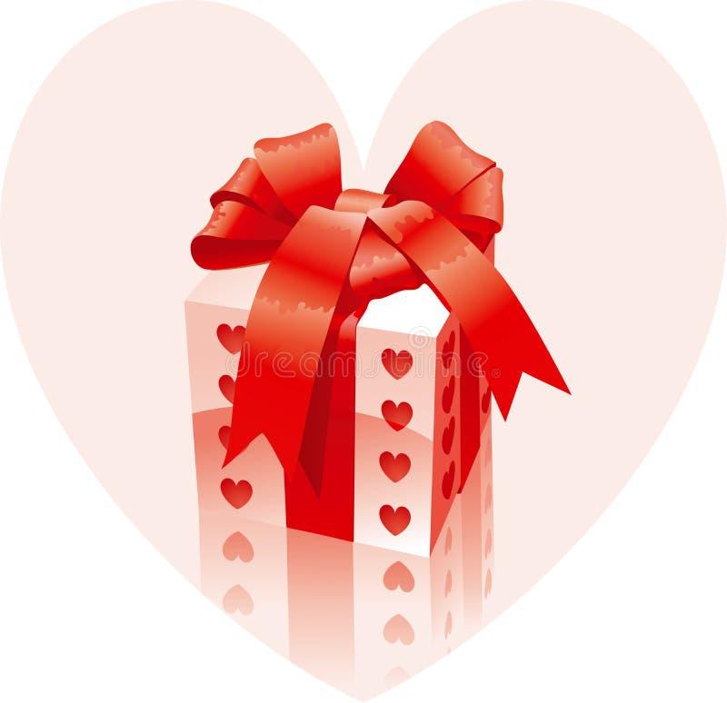 Regalo de la tarjeta del día de San Valentín libre illustration