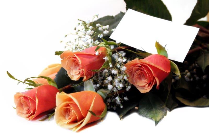 Regalo de rosas imagen de archivo libre de regalías