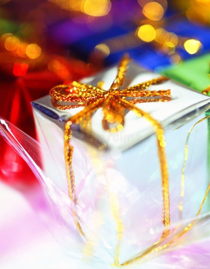 Regalo. Decoraciones de la Navidad; fotografía de archivo libre de regalías