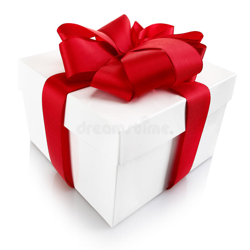 Regalo decorativo de la Navidad o de la tarjeta del día de San Valentín imagenes de archivo