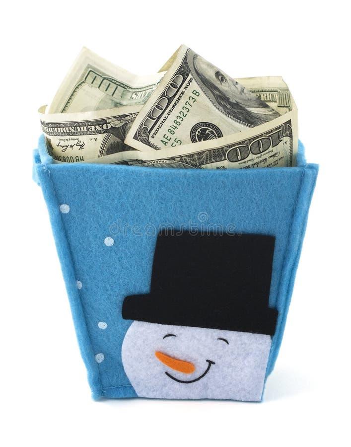 Regalo dei contanti di Natale immagine stock