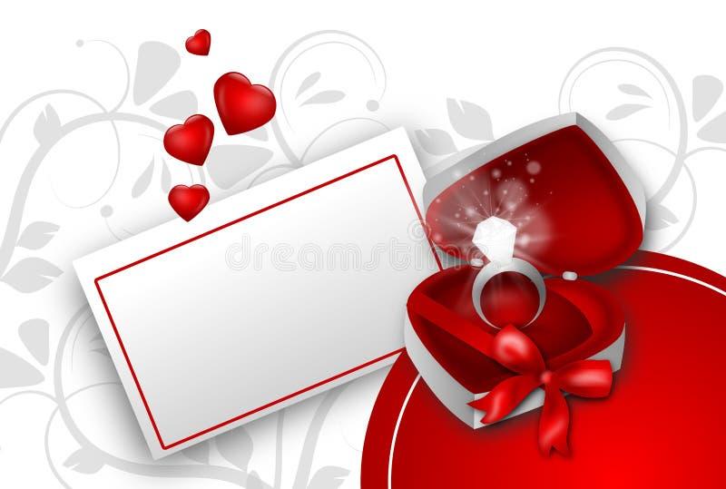 Regalo del amor stock de ilustración