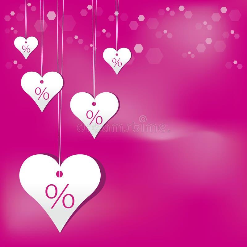 Regalo del biglietto di S. Valentino illustrazione di stock