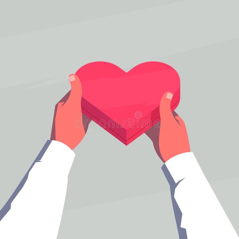 Regalo del día de tarjetas del día de San Valentín ilustración del vector