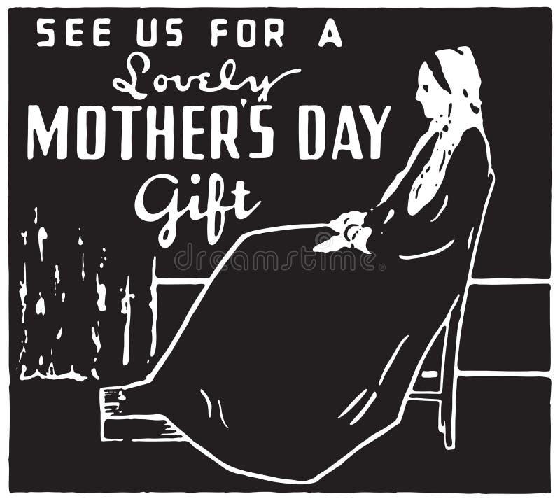 Regalo del día del ` s de la madre stock de ilustración