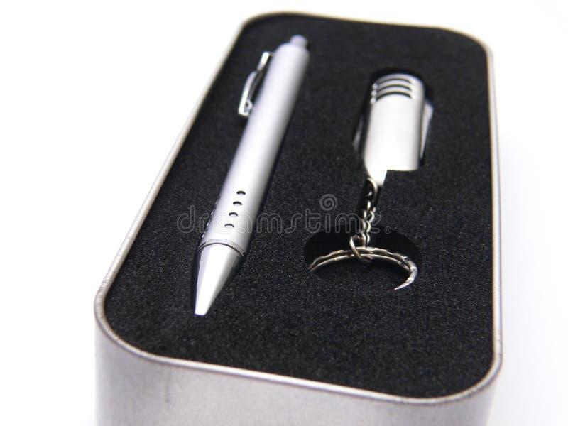 Regalo della penna fotografia stock