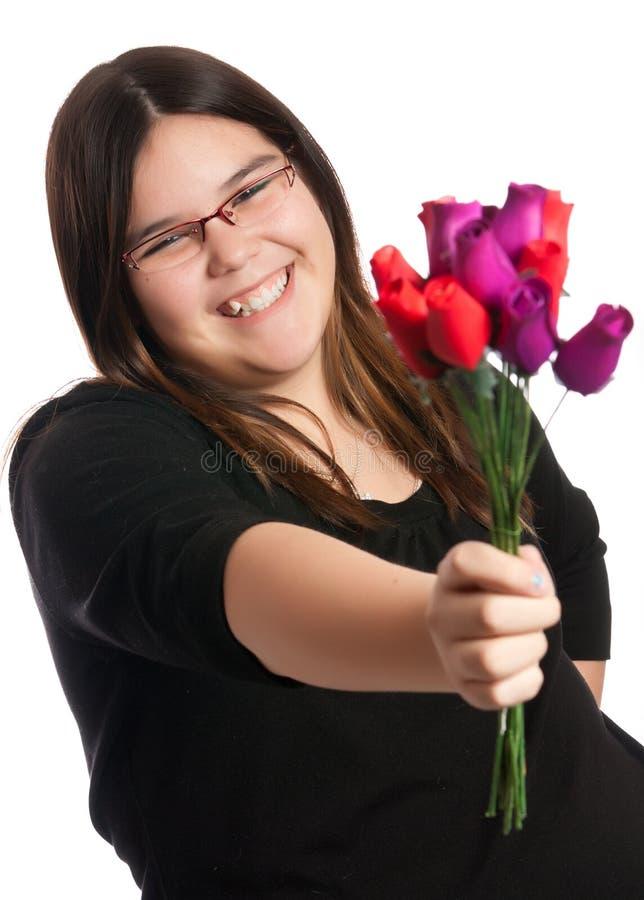 Regalo delle rose fotografie stock libere da diritti
