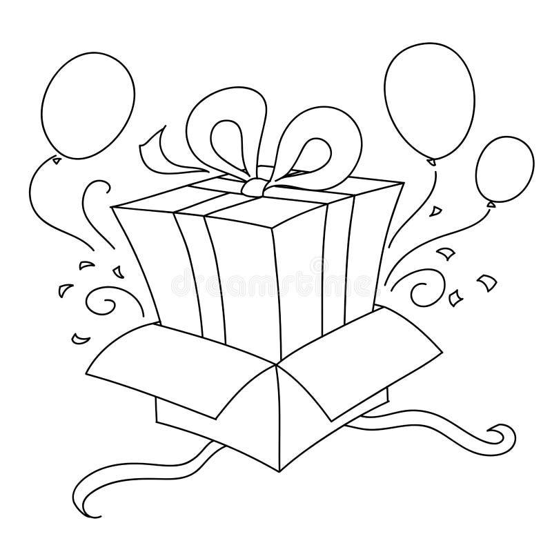 Regalo dentro de otro regalo stock de ilustración