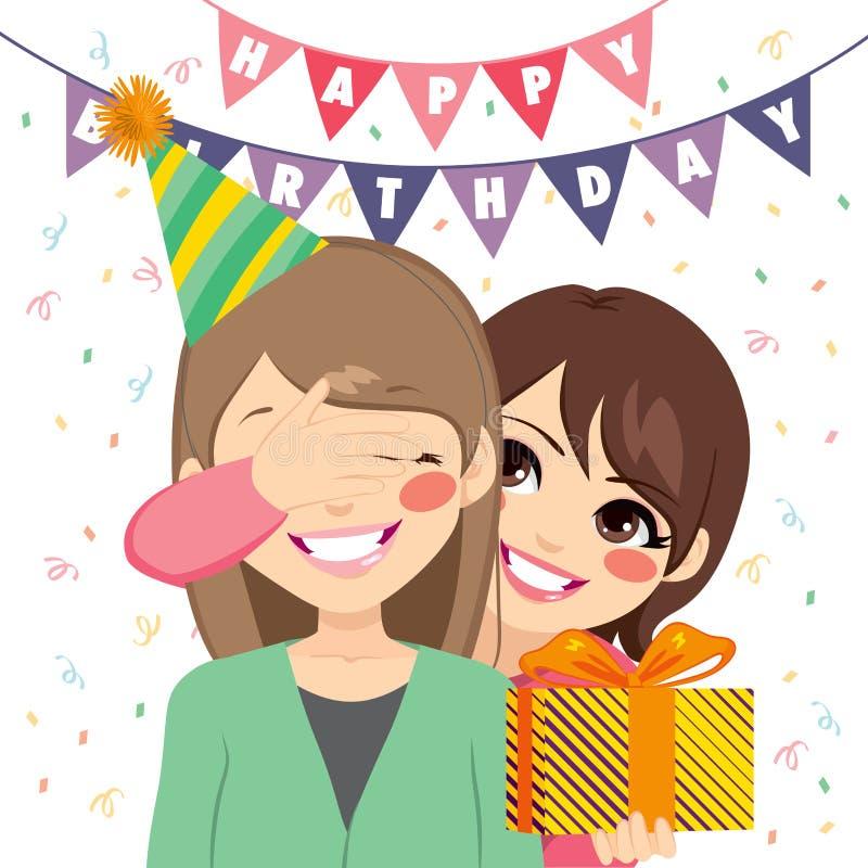 Regalo di compleanno di sorpresa illustrazione di stock