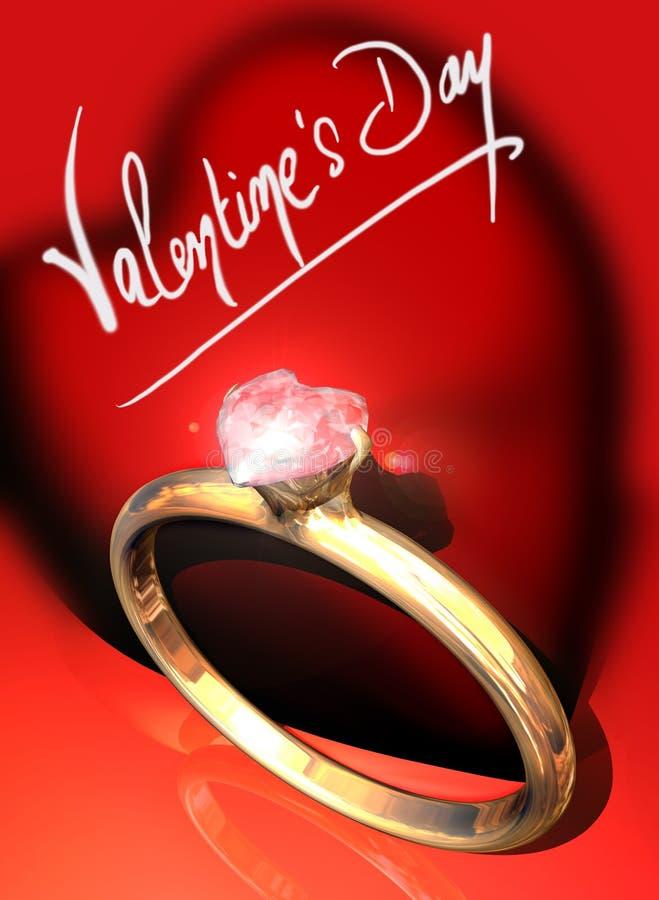 Regalo di giorno del biglietto di S. Valentino illustrazione di stock