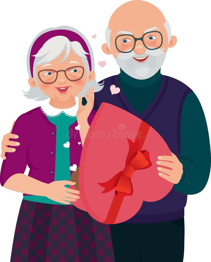 Regalo di giorno del biglietto di S. Valentino royalty illustrazione gratis