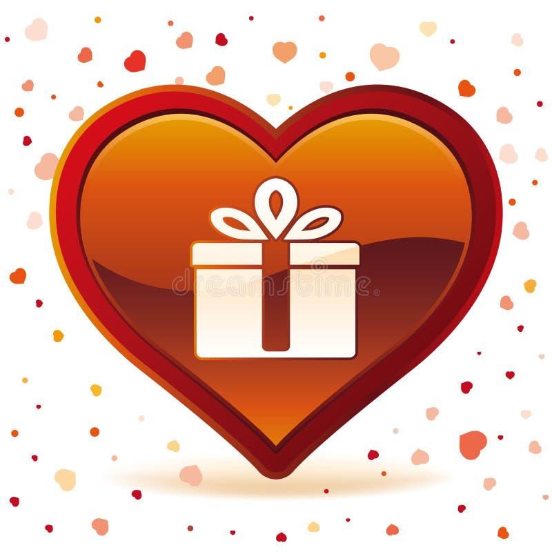 regalo di giorno di biglietto di S. Valentino illustrazione vettoriale