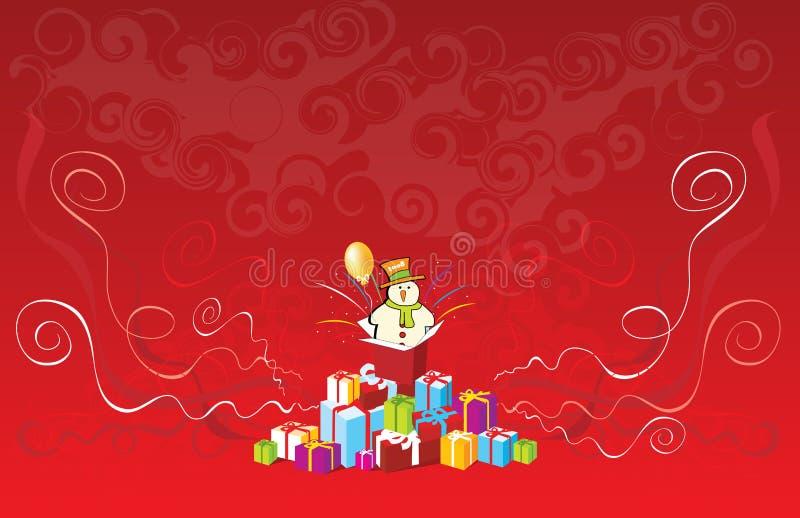 Regalo di Natale 2008 illustrazione di stock