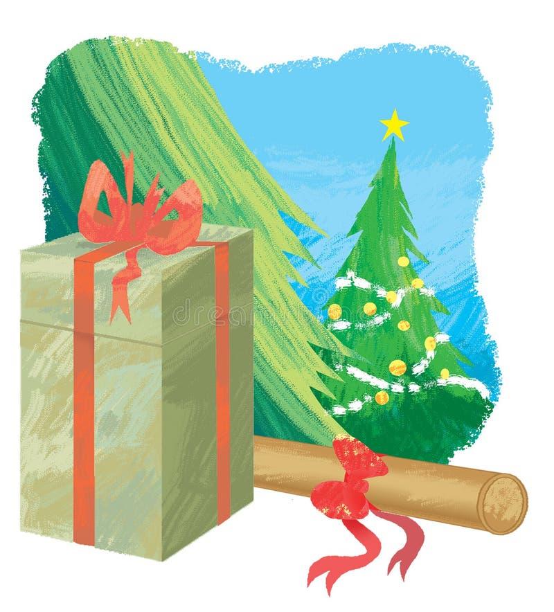 Download Regalo di natale illustrazione di stock. Illustrazione di ornamento - 7301849