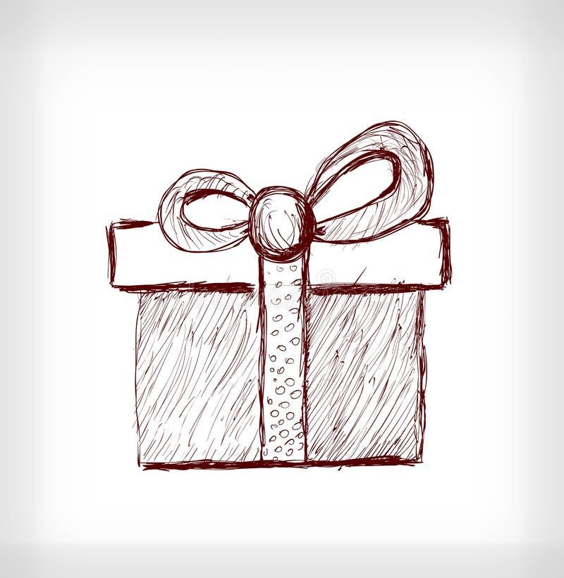 Regalo di Natale con l'arco royalty illustrazione gratis