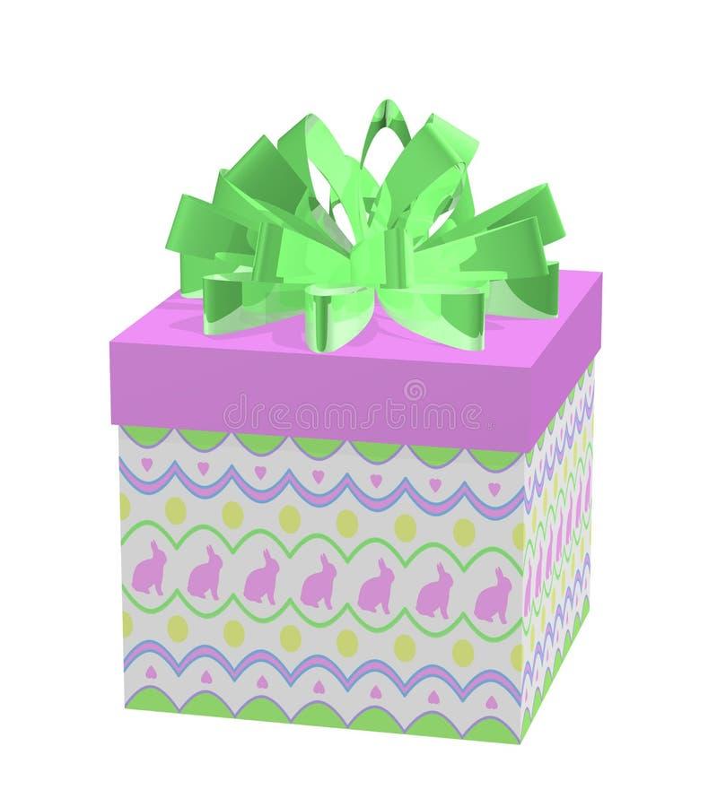 Download Regalo Di Pasqua Con I Coniglietti Ed I Cuori Illustrazione di Stock - Illustrazione di bianco, uovo: 3888929