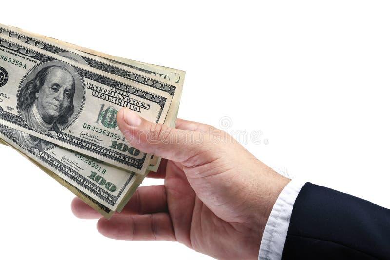Regalo dos del dinero imagen de archivo