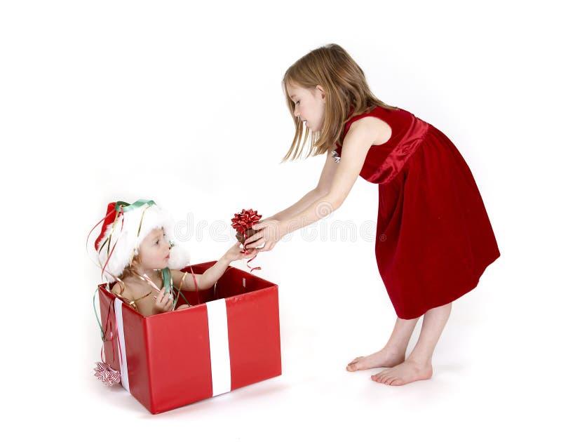 Regalo dulce de la Navidad - serie foto de archivo