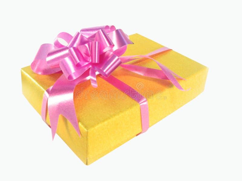 Download Regalo En Un Rectángulo Amarillo Imagen de archivo - Imagen de objeto, paquete: 7280091