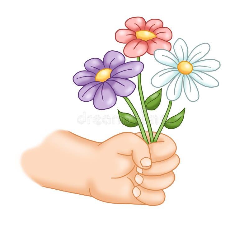 Regalo floral ilustración del vector
