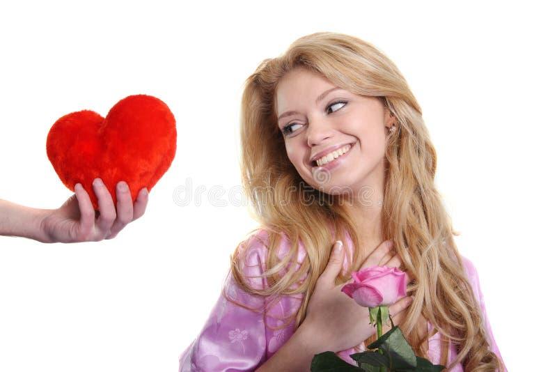Regalo il giorno del biglietto di S. Valentino immagine stock