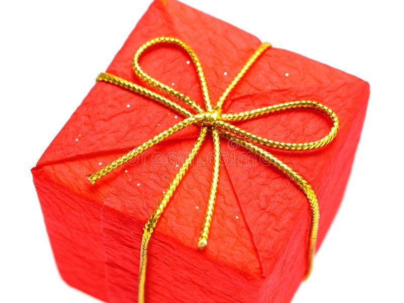 Regalo rojo de la Navidad foto de archivo