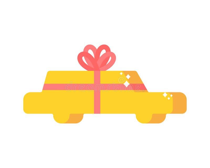Regalo y arco del coche Auto presente para el cumpleaños y el aniversario libre illustration