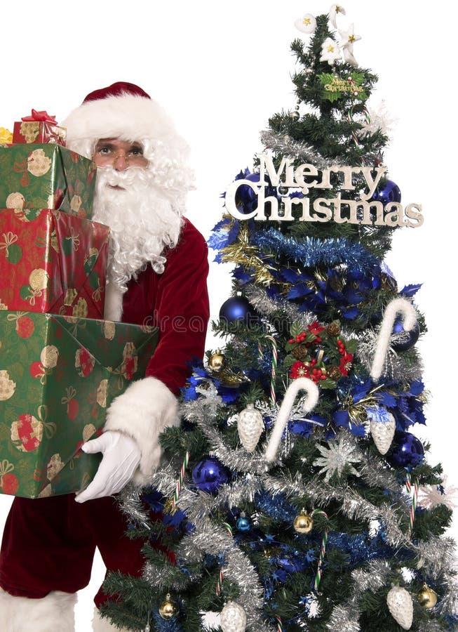 Regalos 5 de Santas foto de archivo