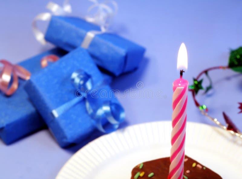 Regalos azules imagen de archivo libre de regalías