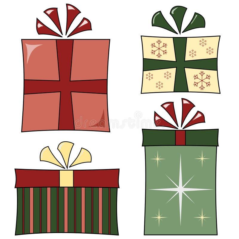 Regalos cobardes de la Navidad libre illustration