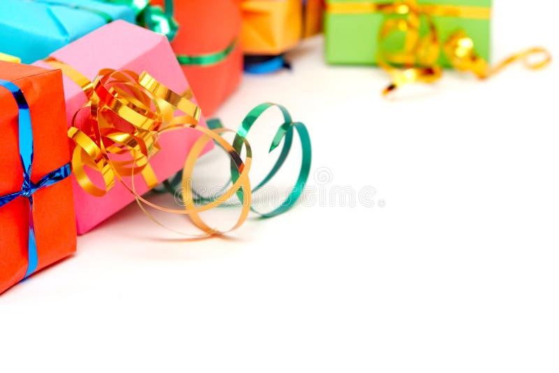 Regalos coloridos foto de archivo libre de regalías