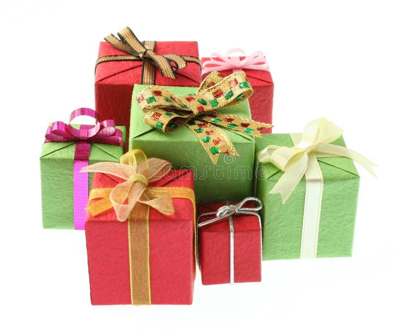 Regalos coloridos imagen de archivo libre de regalías