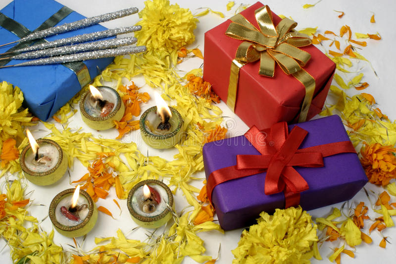 Regalos de Diwali foto de archivo libre de regalías