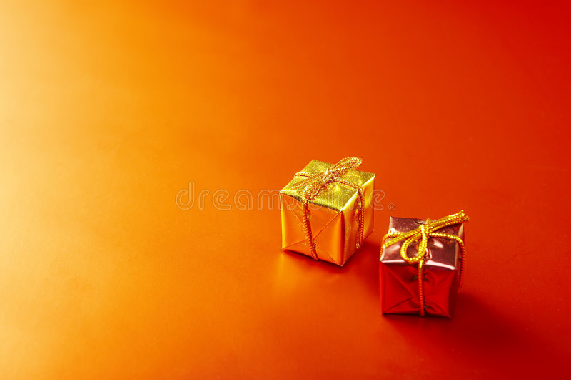 Regalos de la Navidad fotografía de archivo libre de regalías