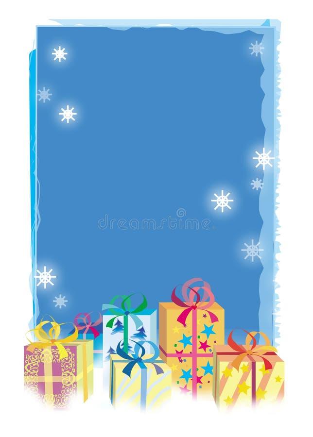 Regalos de la Navidad stock de ilustración