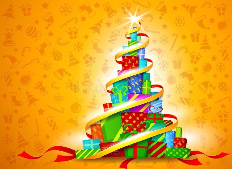 Regalos de la Navidad. Ilustración del vector ilustración del vector