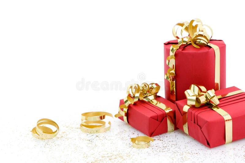 Regalos de Navidad fotografía de archivo libre de regalías