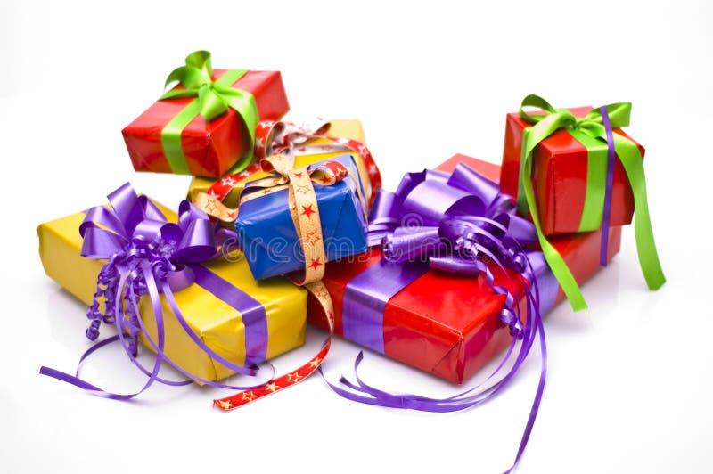 Regalos de Navidad fotos de archivo libres de regalías