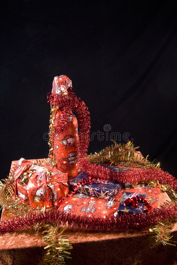 Regalos de Navidad envueltos fotografía de archivo