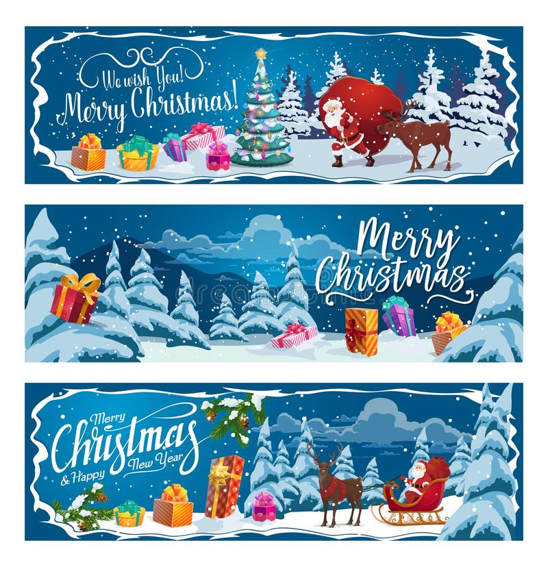 Regalos de Santa Claus, de la Navidad y trineo del reno libre illustration