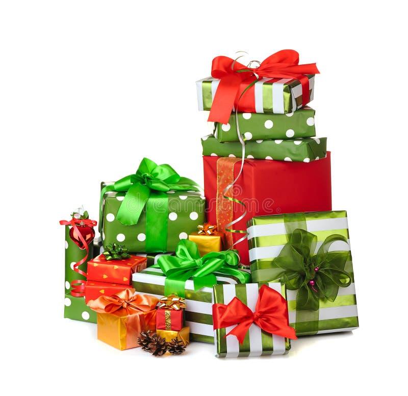Regalos del rectángulo de la Navidad imagen de archivo