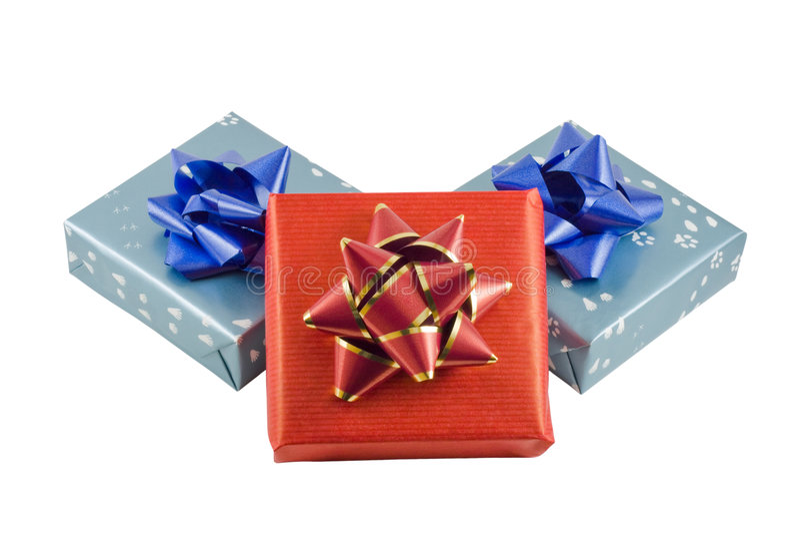 Regalos envueltos imagen de archivo libre de regalías