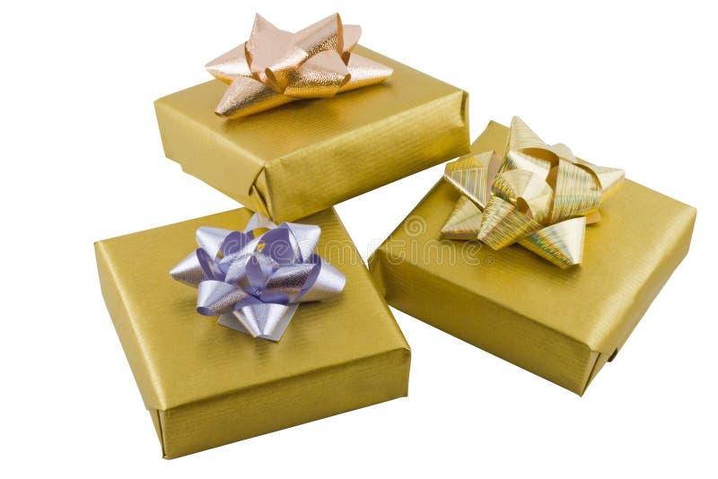 Regalos envueltos fotografía de archivo libre de regalías
