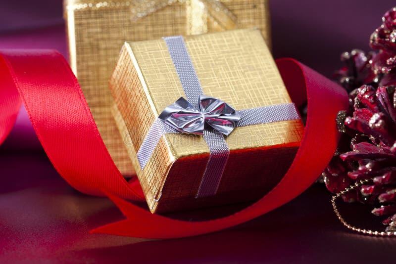 Regalos para la Navidad foto de archivo libre de regalías