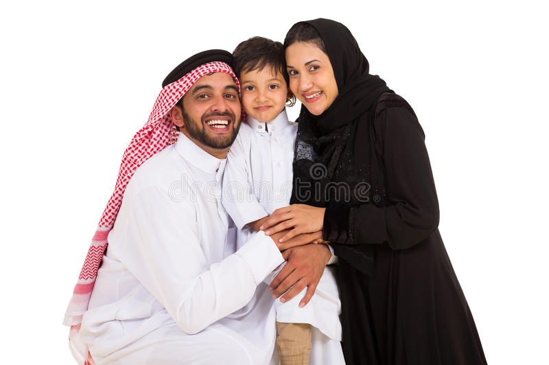 Regard Arabe de famille photo stock